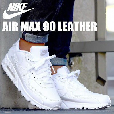 the best attitude 22283 02206 Nike Air Max 90 Leather 302519 113 bianco