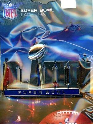 "Super Bowl LIII 2"" Primary Logo 3D Pin 53 Atlanta 02.03.19 Rams Patriots PSG"