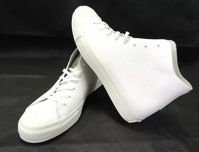 Converse Mens Chuck Taylor All Star Prime High Top White Leather 154837c Sz  9.5 a347532b6