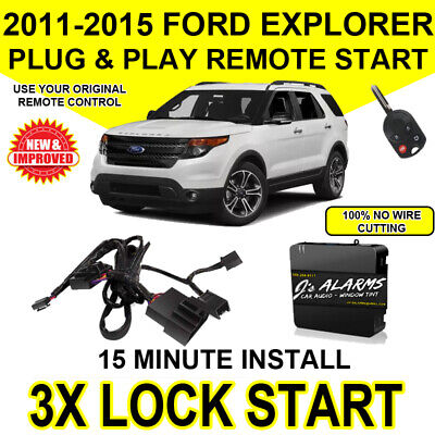 2011- 2015 Ford Explorer Remote Start Plug and Play Easy Install DIY 3X Lock FO1