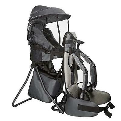 Clevr Baby Toddler Backpack Camping Hiking Child Kid Carrier w Shade Visor Black