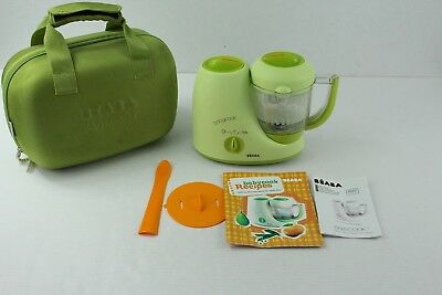 Beaba BabyCook Baby Food Maker Steamer Blender Green with Accessories