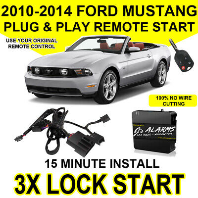 10- 14 Ford Mustang Remote Start Plug and Play Easy Install WITH ORIGINAL REMOTE