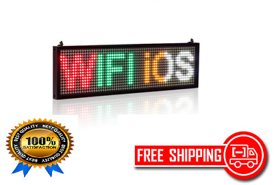 34cm P5 WiFi 4 Color LED sign indoor Storefront Open Sign Programmable Scrolling
