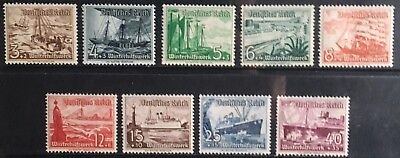 Germany Third Reich 1937 Winter Relief: Ships MLH