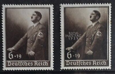 Germany Third Reich 1939 Hitler at Lectern + O/P MNH