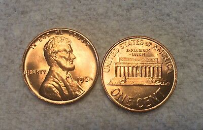 1960 Small Date and Large Date Nice Beautiful MS / BU RED Lincoln Cents!