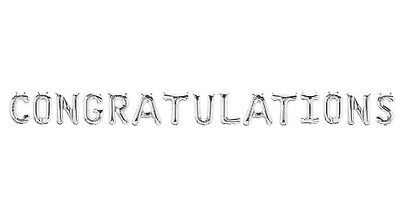 "CONGRATULATIONS Letter Balloons - 16"" Silver Letter Balloons - Graduation - US"