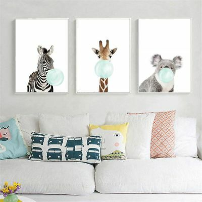 Decor Baby Animal Hanging Decoration Poster Canvas Print Nordic Wall Painting