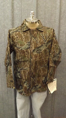09d5fd3e1176a Vtg NEW Mossy Oak Original Tree Stand Camo Rugged Duck Cotton Canvas Jacket  sz S