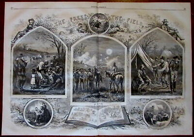 The Press in the Field sketches Slaves 1864 Civil War Nast wood engraved print