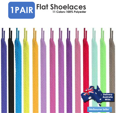 Flat Shoelaces Colorful Coloured Bootlace Sneaker shoe laces AU