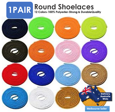 Round Shoelaces Colorful Coloured Bootlace Sneaker shoe laces AU