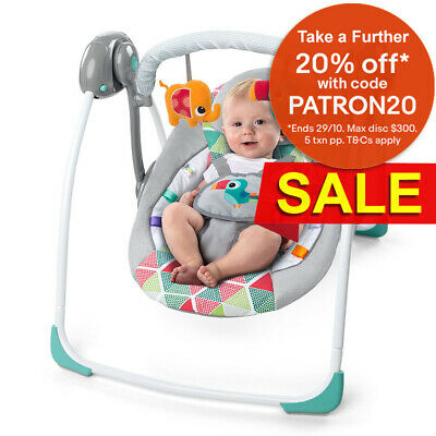 Bright Starts Toucan Tango Baby/Infant Bouncer Rocking/Chair Toys Lullaby/Music