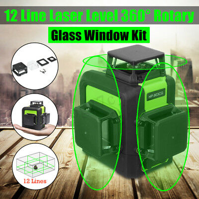 Accurate 12 Lines Laser Level Self Leveling Vertical Horizontal Measuring Tool