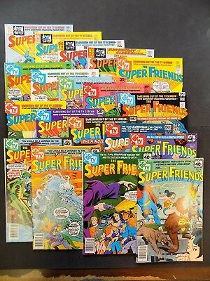 The Super Friends #1 - #19 DC Comics VF- 1976-78