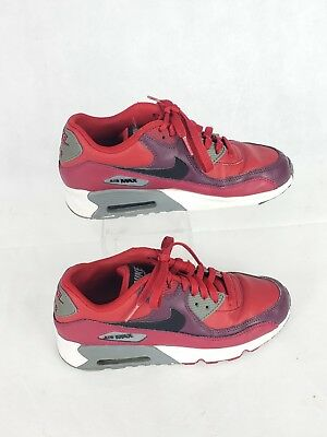 08a79e625107 YOUTH SIZE NIKE Air Max 90 Leather (Gs) 833412-601 Gym Red black ...