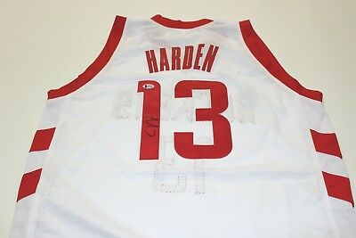 1835b662b08 James Harden Signed Houston Rockets Jersey Beckett COA Autographed Auto