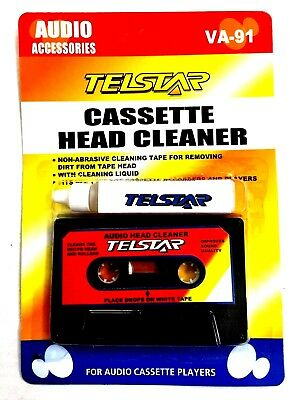 Audio Cassette Tape Head Cleaner WITH Liquid Solution, NEW, Quality