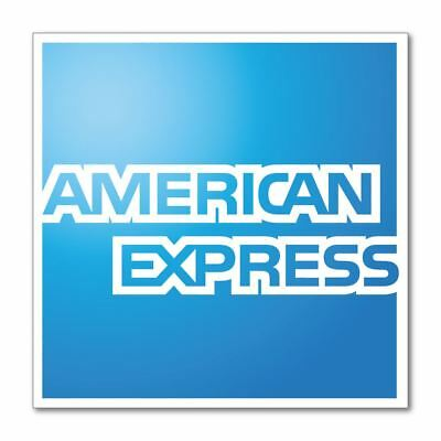 American Express Amex card accept eptos payment Car Sticker Decal