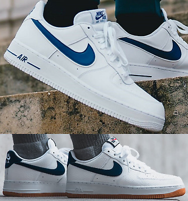 hot sale online 8ca9a cdc50 Nike Air Force 1 One Low 07 Sneaker Men s Lifestyle Shoes White Deep Royal