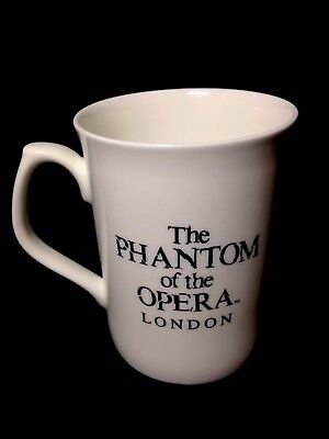 Rare Vintage 1986 The  Phantom Of The Opera Coffee Cup Bone China Gold  Graphics