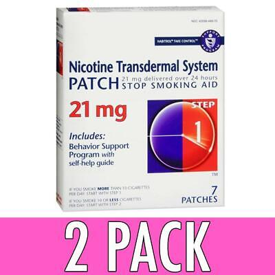 Habitrol Nicotine Transdermal System Patches, Step 1, 21 mg, 7 ea, 2 Pack