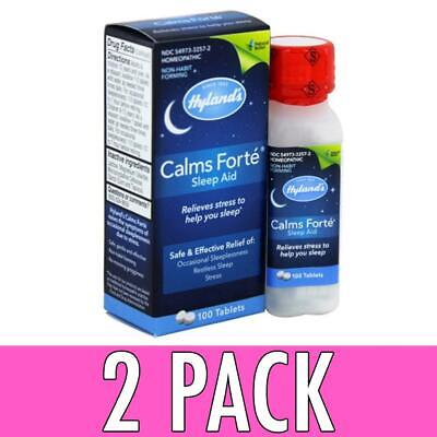 Hyland's Calms Forte Sleep Aid, Tablets, 100 ea, 2 Pack