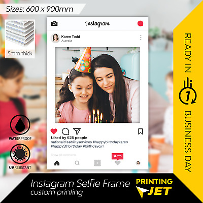 Instagram Selfie Frame Photo Booth Prop 60 x 90 cm  [5mm Thick Corflute]