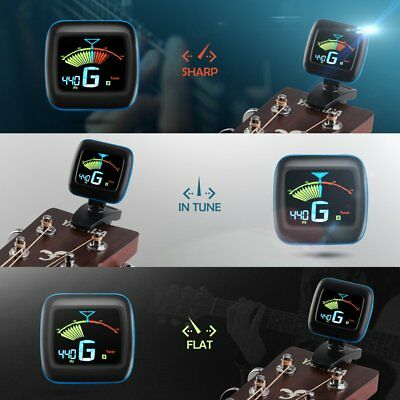 LCD 2 in 1 Clip-on Tuner & Metronome for Chromatic Guitar v-Violin  b-Bass USA