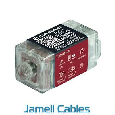 Cabac S-Premium Push Button Digital Dimmer 2-Wire (Clipsal Saturn) HNS616DT