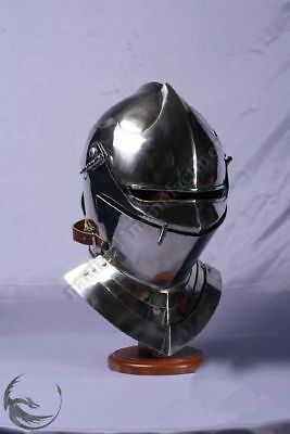 Vintage Style Medieval Knight Armor Closed Helmet Halloween Costume Replica Gift