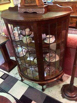 1930's Art Deco Lead Light China Cabinet