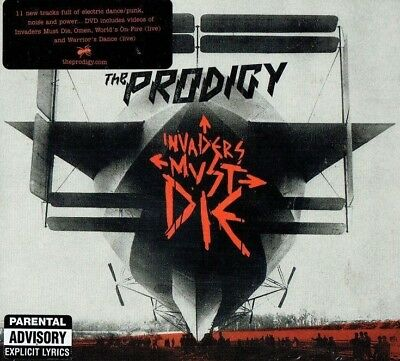 THE PRODIGY - Invaders must die (  2009 Cd + Bonus dvd / Brand new & sealed)