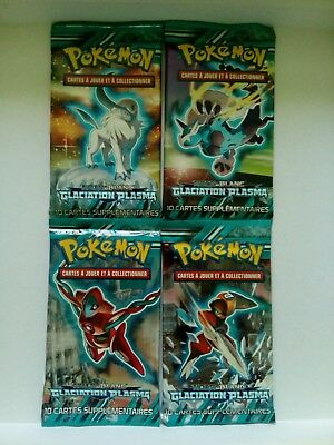 Lot de 4 Boosters POKEMON Noir & Blanc Glaciation Plasma - NEUF VF