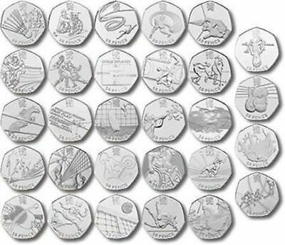 London 2012 All Olympic 50p Coins incl Triathlon Football Judo