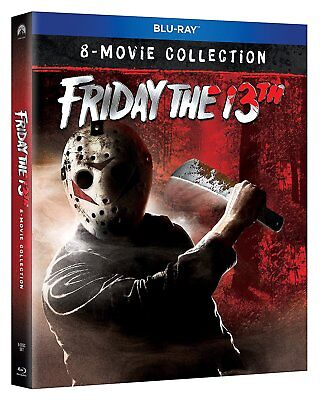 Friday The 13Th - 8 Movie Collection 8 Disc Boxset Blu Ray  Region Free