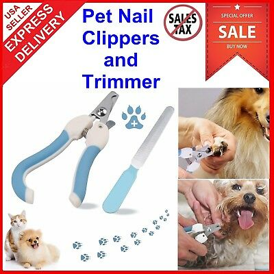 Small Large Dog Nail Clippers Trimmer Pet Cat Cutting Scissors Claw Care Tool