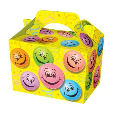Happy Smiley Face Food Boxes Loot Lunch Cardboard Childrens Kids Birthday