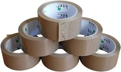 45 LONG LENGTH PACKING TAPE STRONG - BROWN/FRAGILE 48mm x 66M PARCEL TAPE