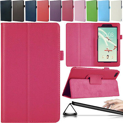 """Leather Slim Smart Cover Folding Stand Case For Lenovo Tab E7 7"""" TB-7104 Tablet"""
