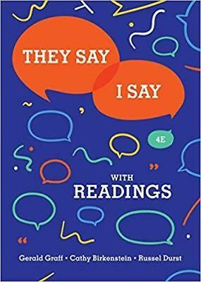 (PDF)They Say / I Say:The Moves That Matter in Academic Writing with Readings