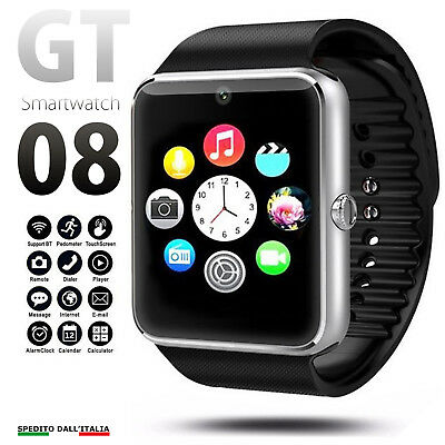 Orologio Telefono Smartwatch Android Ios Con Sim Bluetooth Micro Sd Gt08  Iphone