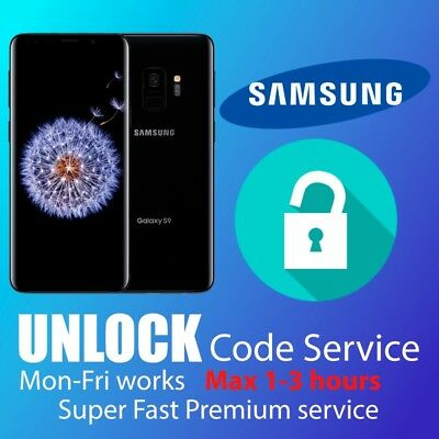 SAMSUNG UNLOCK CODE S9 S8 S7 S6,Edge Note 4,5,7,9  EE O2 Vodafone 3 UK