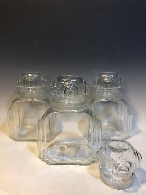3 Art Deco Apothecary Candy Jar General Store Soda Fountain Counter Display