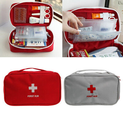 First Aid Portable Kit Bag Emergency Travel Medical Medicine Box Home Case Small