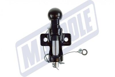 Maypole Universal Black 50mm Towbar Ball & Pin Towing Jaw Hitch - 3500kg Rated