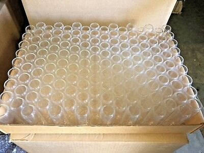 "Glass borosilicate  Lab test tubes  25mm  x 80mm -3"" CLEAR"