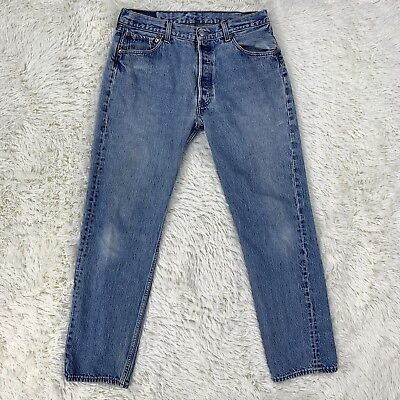 b126bc49 Vintage USA LEVIS 501xx Jeans 35 X 36 Red Tab Light Wash VTG Actual 32 x