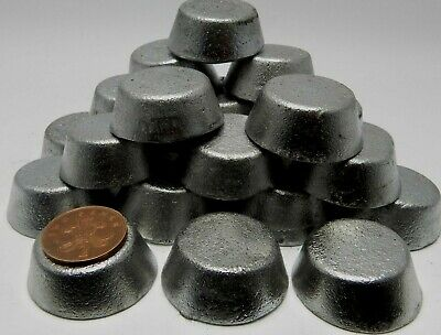 1 kg of Round Lead Ingots Quality Clean Handy Palm Size Little Dross
